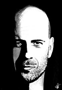 Bruce Drawings Originals - Bruce Willis by Pierre Louis TORET