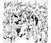 Flemish Drawings - Bruegel Wedding by Gary Peterson