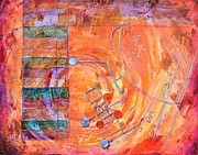 Abstract Map Originals - Bruised Map by Bob Rowell