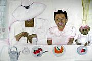 Brunch Painting Prints - Brunch Print by Michaela Akers