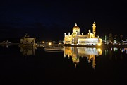 Prayer Pyrography Prints - Brunei refections.  Print by Gary Bridger