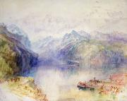 Lucerne Painting Posters - Brunnen  Poster by Joseph Mallord William Turner