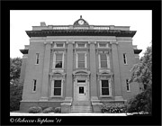 Historical Framed Prints - Brunswick Historical Court House Framed Print by Rebecca  Stephens
