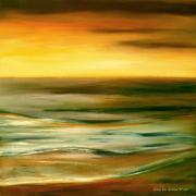Big Skies Paintings - Brushed 7 by Gina De Gorna