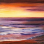 Beach Sunsets Originals - Brushed 9 by Gina De Gorna