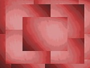 Rectangle Art - Brushed In Red 2 by Tim Allen