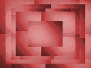Rectangle Art - Brushed In Red 3 by Tim Allen