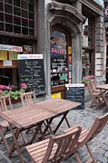 European Restaurant Metal Prints - Brussels - Restaurant Chez Patrick Metal Print by Carol Groenen