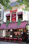 French Doors Posters - Brussels - Restaurant La Villette with Trees Poster by Carol Groenen