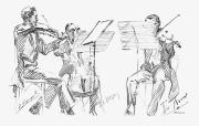 Music Stand Photos - Brussels String Trio by Granger