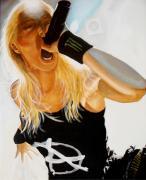Brutal Metal Queen Print by Al  Molina