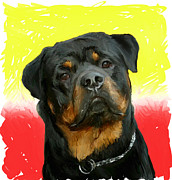 Dog Portrait Originals - Brutus by Snake Jagger