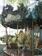 Bryant Photo Framed Prints - Bryant Park Carousel Framed Print by Blanche Knake