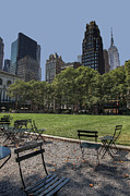 Bryant Photo Framed Prints - Bryant Park New York Framed Print by Harrie Haaima
