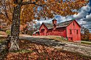 Red Barn. New England Prints - Bryant Red Barn Print by Fred LeBlanc