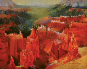National Parks Paintings - Bryce Canyon by Dennis Rhoades