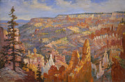 Canyons Painting Prints - Bryce Canyon Print by Lewis A Ramsey
