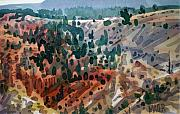 National Park Paintings - Bryce Vista by Donald Maier