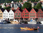 Norway Prints - Bryggen Bergen Print by Helene Sobol
