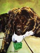 Brindle Prints - Bryndals Toy Print by Theresa Higby