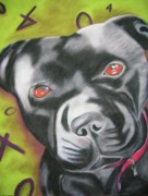 Soulful Eyes Paintings - Brynn by Michelle Hayden-Marsan