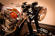 Classic Cycle Prints - BSA DBD34GS Goldstar Clubman Motorcycle Print by David Patterson