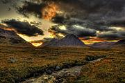 Etive Mor Framed Prints - Buachaille Etive Mor Sunset-Glencoe Framed Print by Jim Dohms