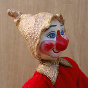 Clown Sculpture Posters - Bub - Profile Poster by David Wiles