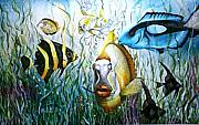 Bubba Metal Prints - Bubba Fish and Friends Metal Print by JoLyn Holladay