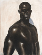 Black Art Pastels Prints - Bubba Lonzo Print by L Cooper