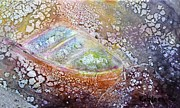 Impressionism Ceramics Framed Prints - Bubble Boat Framed Print by Kathleen Pio
