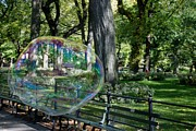 Metal Signs Digital Art Posters - BUBBLE in the PARK Poster by Rob Hans