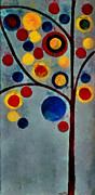 Multicolor Metal Prints - Bubble Tree - dps02c02f - Left Metal Print by Variance Collections
