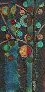 Modern Metal Prints - Bubble Tree - spc02bt05 - Left Metal Print by Variance Collections