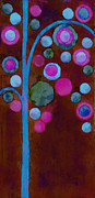 Cyan Digital Art Prints - Bubble Tree - w02d Print by Variance Collections