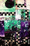 Purple Tapestries - Textiles Posters - Bubbles and Fizz Poster by Jude Ongley-Mowris