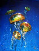 Flare Paintings - Bubbles and Jellies by Marco Antonio Aguilar