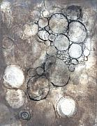 Printmaking Prints - Bubbles Print by Rockstar Artworks