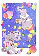 Whimsical Animals  Art - Bubbles by Lynnda Rakos