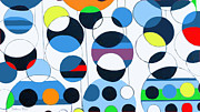 Overlapping Circles Metal Prints - Bubbles of Joy Metal Print by Beth Saffer