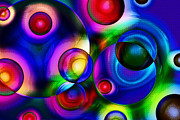 Overlapping Circles Metal Prints - Bubbles Of Life Metal Print by Maigi
