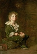 Lace Paintings - Bubbles by Sir John Everett Millais