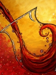 Gallery Art - BUBBLING JOY Original MADART Painting by Megan Duncanson