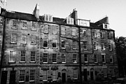Townhouses Framed Prints - Buccleuch Place Georgian Townhouses Now Part Of The University Of Edinburgh  Framed Print by Joe Fox