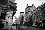 Overcast Day Photo Posters - Buchanan Street Shopping Area On A Cold Wet Day In Glasgow Scotland Uk Poster by Joe Fox