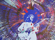 Electric Guitar Painting Originals - Buck Dharma by Lance Bifoss
