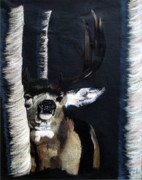 Forest Pastels Originals - Buck by Mayhem Mediums