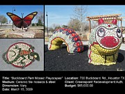 Reginald Charles Adams Art - Buckboard Park Mosaic Playscape by Reginald Charles Adams