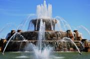 Buckingham Framed Prints - Buckingham Fountain 2 Framed Print by Andrew Dinh