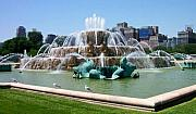 Buckingham Framed Prints - Buckingham Fountain Framed Print by Anita Burgermeister